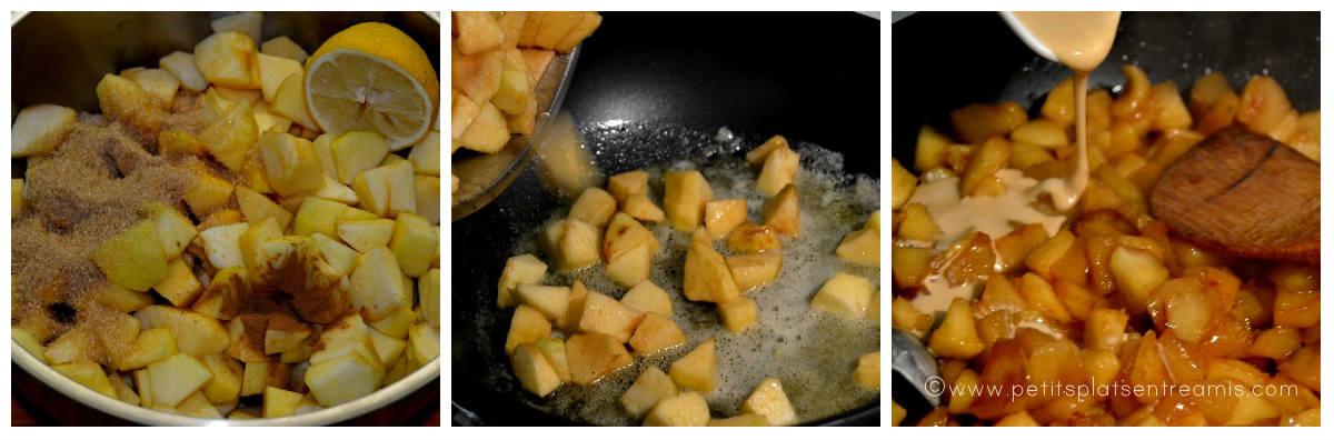 cuisson des pomme apple pie