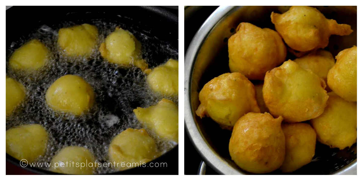 cuisson des pommes dauphine