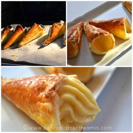 cuisson et remplissage des cornets gourmands