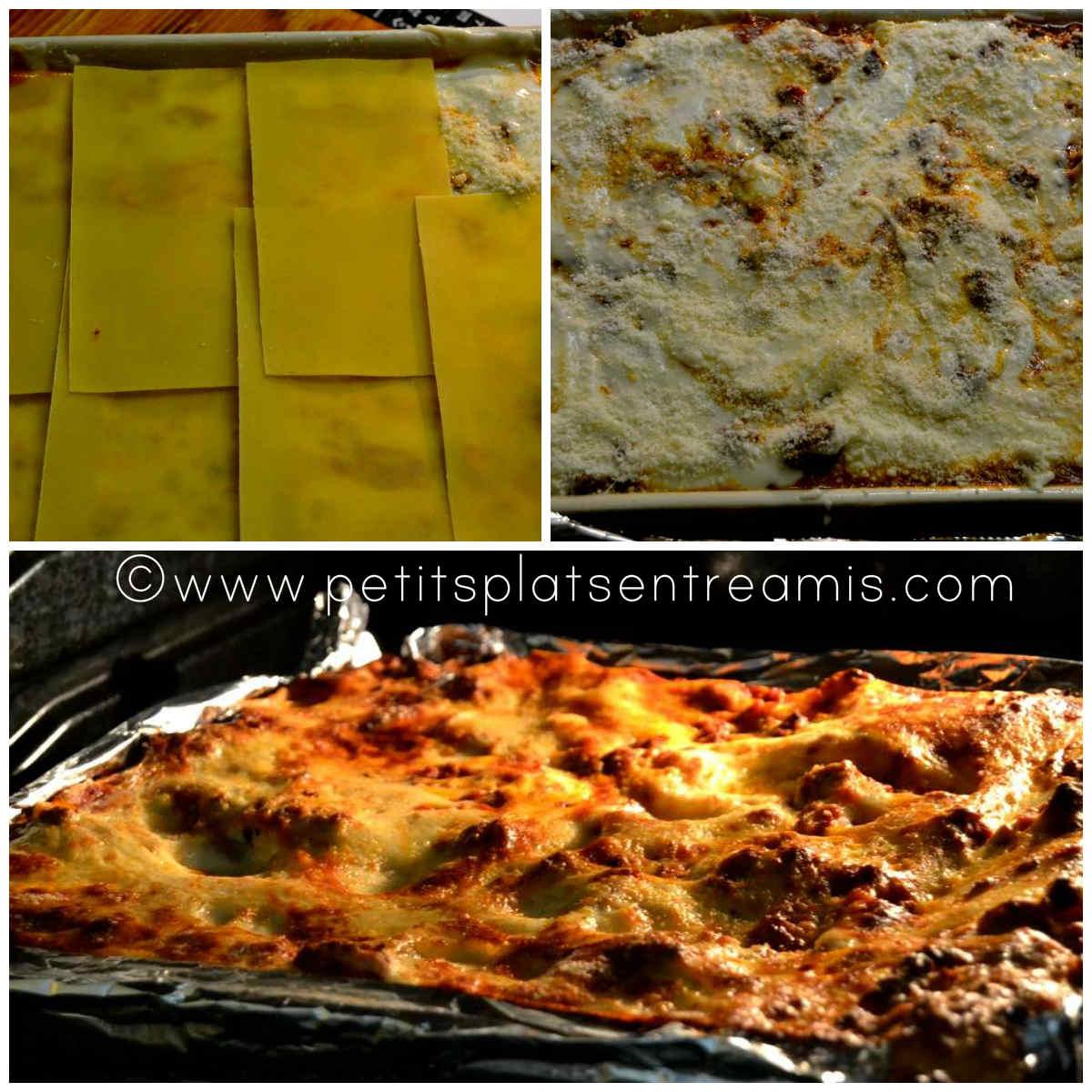 finition et cuisson des lasagnes