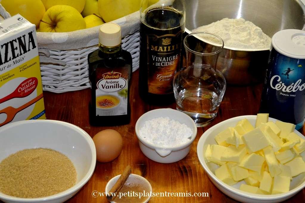 ingrédients pour apple pie
