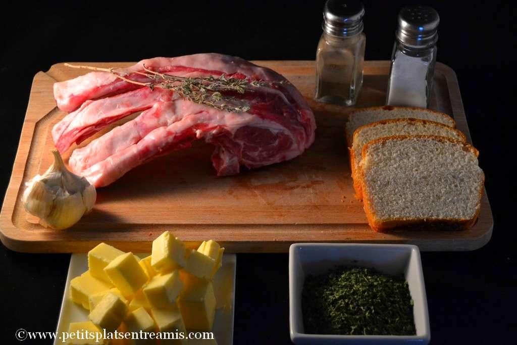 ingrédients pour carré d'agneau persillé
