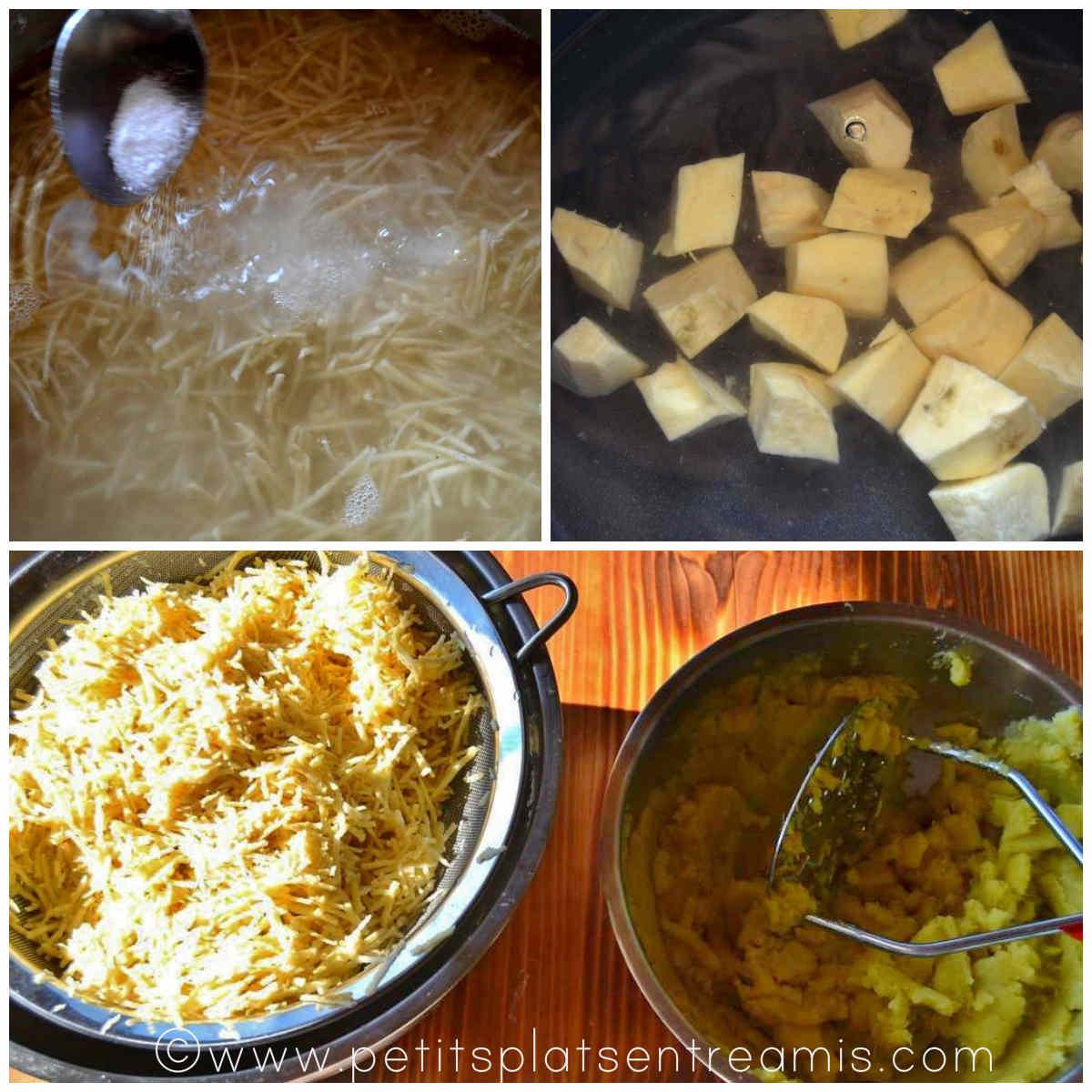 préparation patates douces