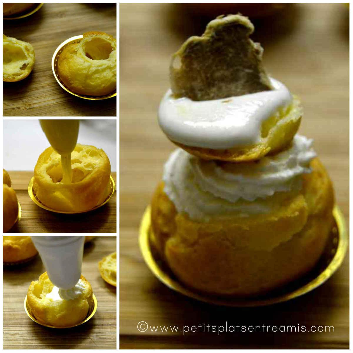 Montage des choux à la truffe blanche