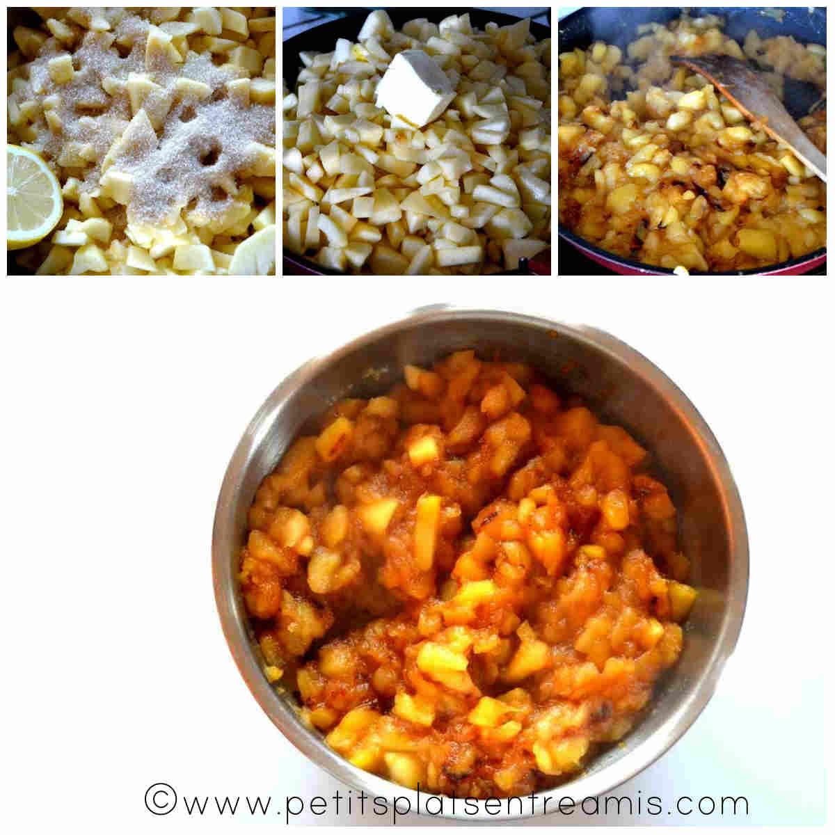 cuisson compotée de pommes