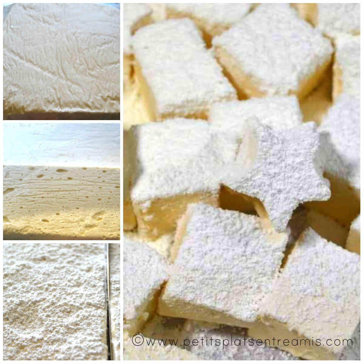 découpe des marshmallows