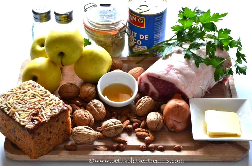 ingrédients pour noir de Bigorre en rôti