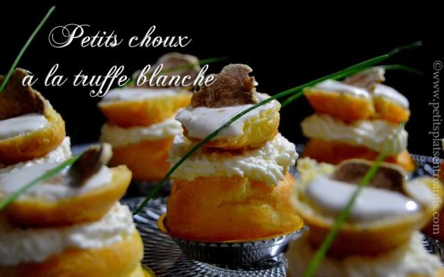 Petits choux à la truffe blanche