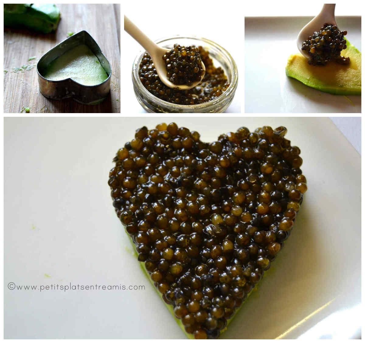 préparation coeur de caviar