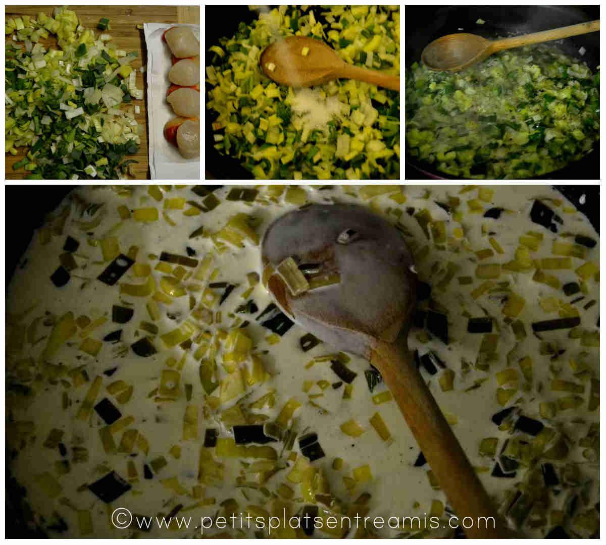 préparation fondue de poireaux