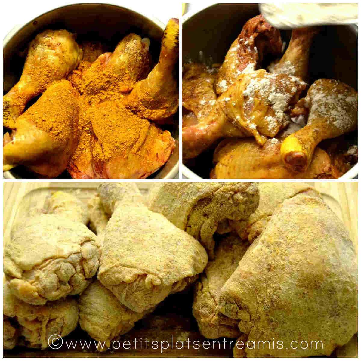 épices sur poulet cajun