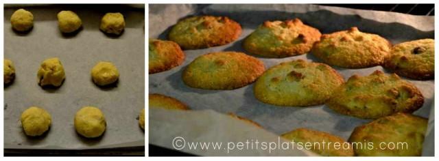 cuisson biscuits noisettes et noix de coco
