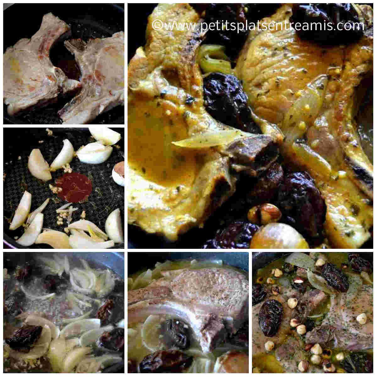 cuisson des côtes de porc aux pruneaux