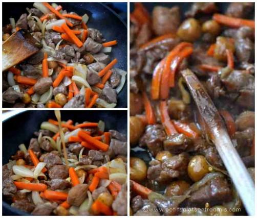 cuisson du sauté de porc caramélisé