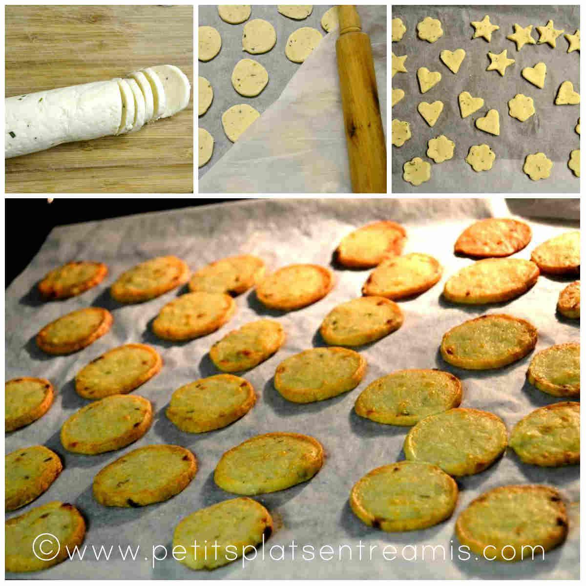 découpage et cuisson des crackers