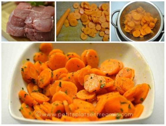 grenadin de veau et carottes vichy
