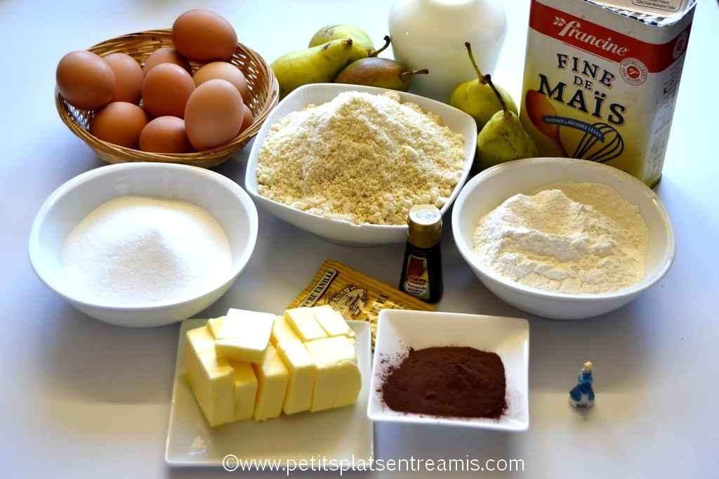 ingrédients galette des rois poires et chocolat
