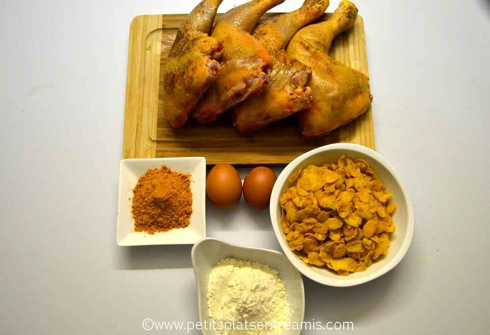 ingrédients pour poulet à la cajun