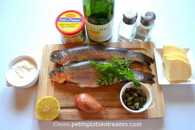 ingrédients pour truite au riesling