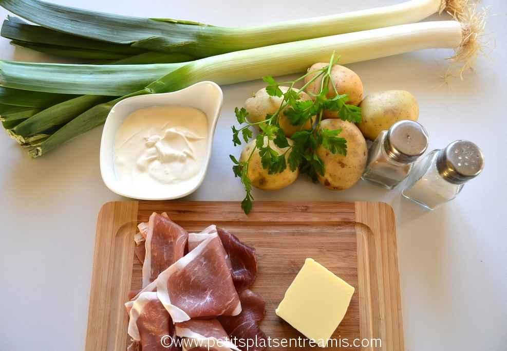 ingrédients velouté de poireaux