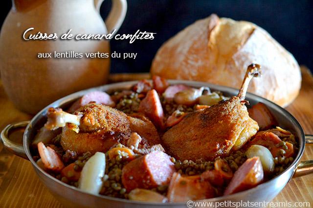 Cuisses de canard confites aux lentilles vertes du Puy