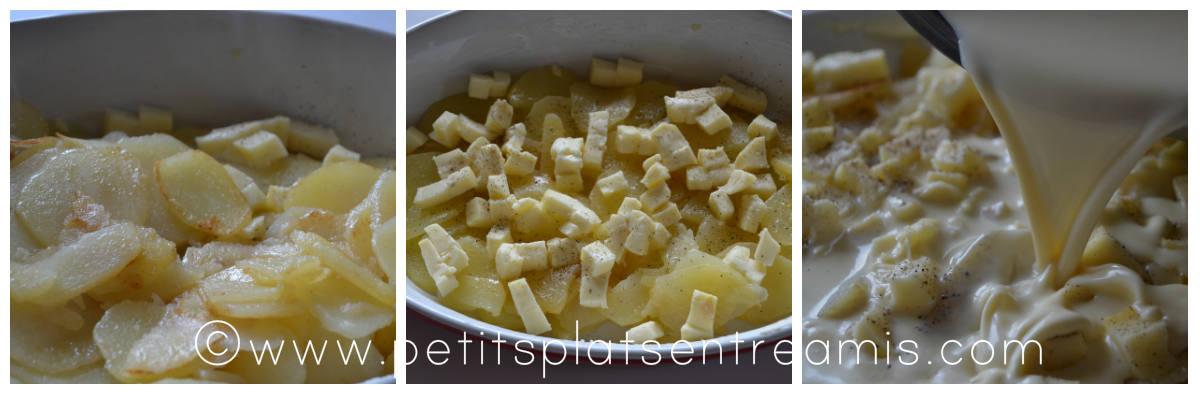 flan de pommes de terre avant cuisson