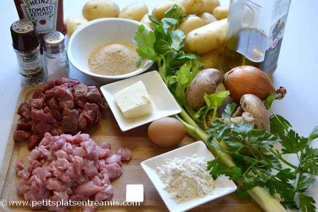 ingrédient pour meatloaf