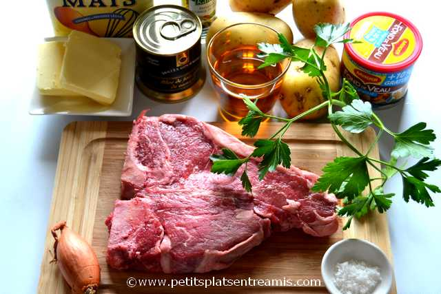 ingrédients pour T-Bone sauce foie gras