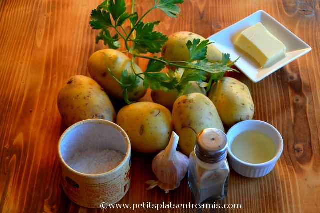 ingrédients pour pommes de terre sautées