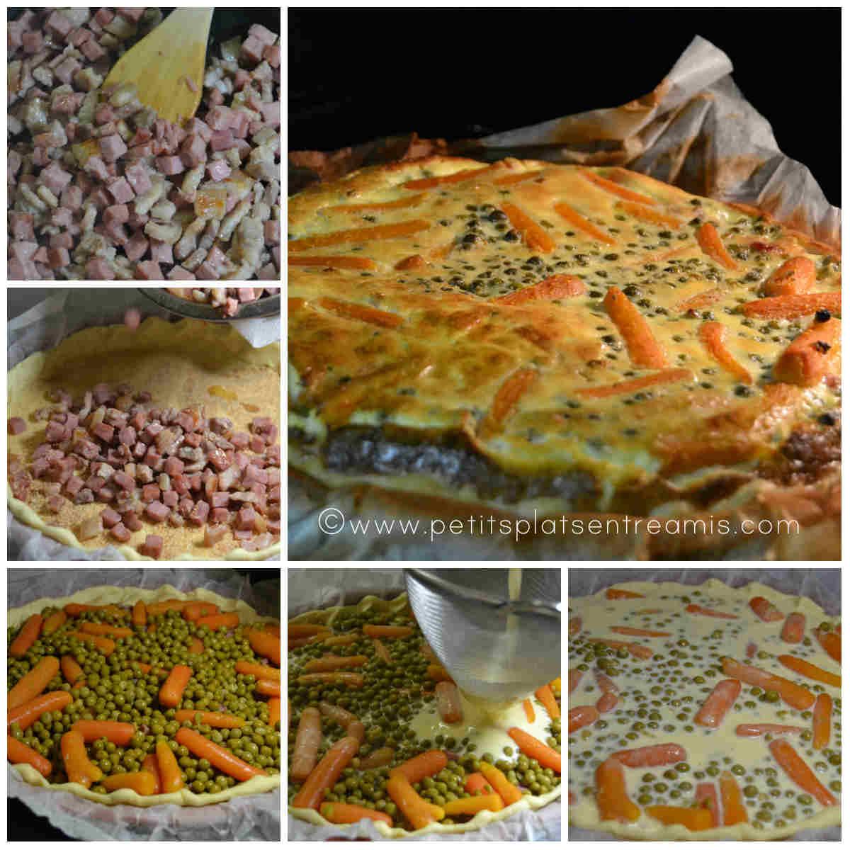 préparation et cuisson tarte aux petits pois