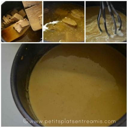 préparation sauce foie gras
