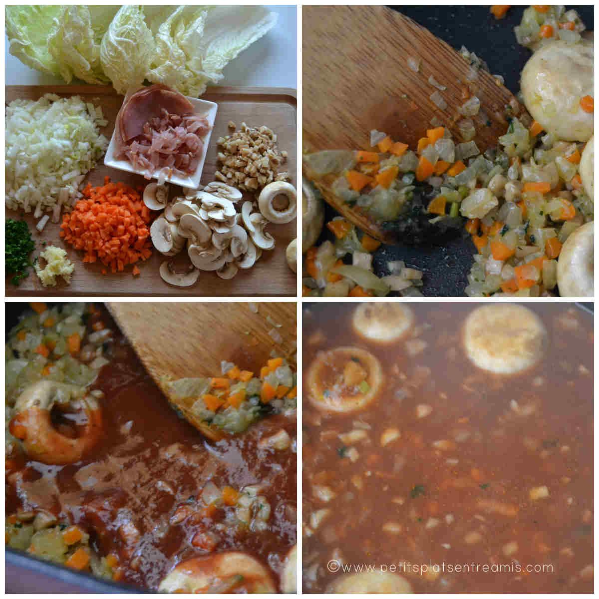 sauce pour choux chinois farcis