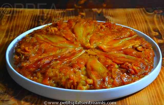 tarte tatin aux endives et noix