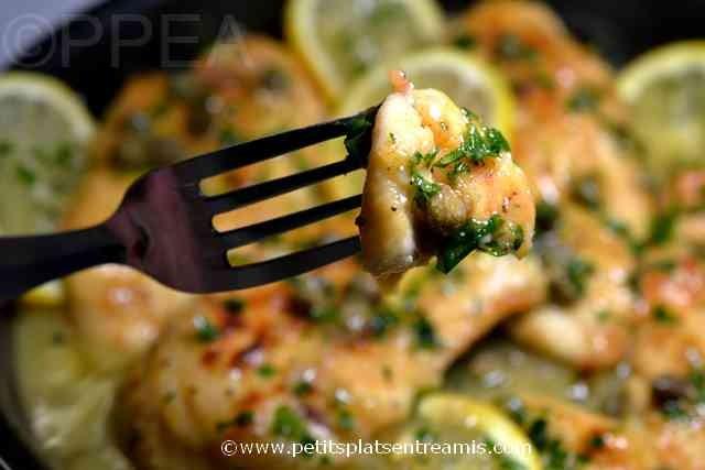 bouchée de piccata de poulet