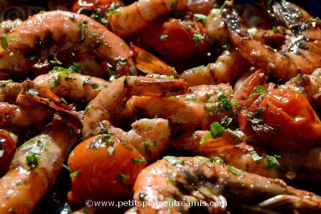 crevettes sautées ail et piment à la une