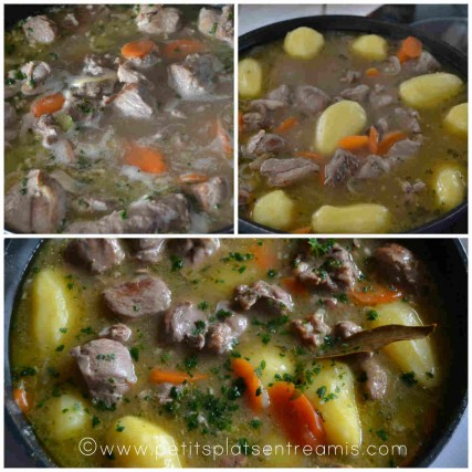cuisson de l'irish stew