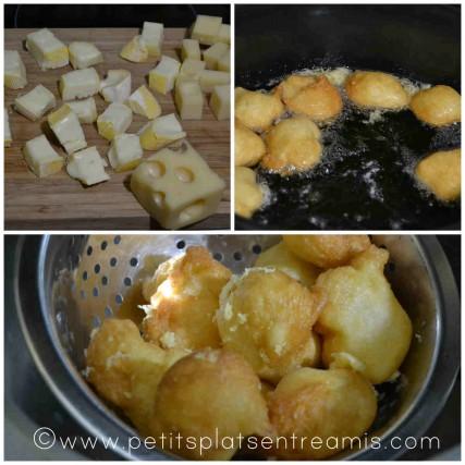 cuisson des beignets au fromage