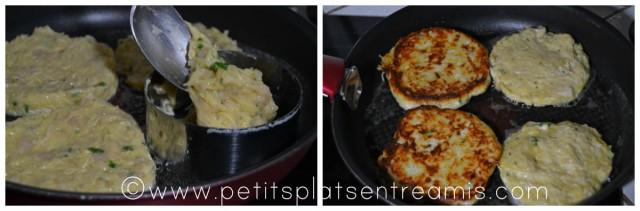 cuisson galettes de pommes de terre et poulet
