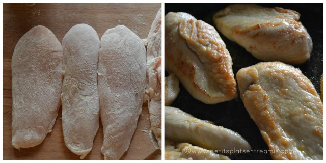 escalopes de poulet revenues