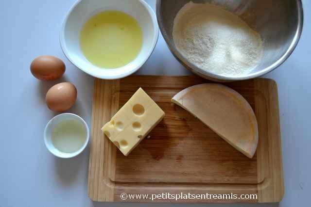 ingrédients pour beignets au fromage