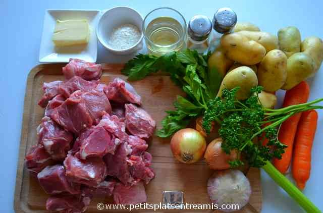ingrédients pour irish stew