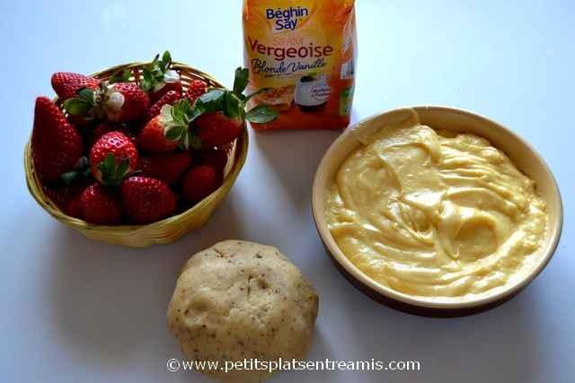 ingrédients pour tarte aux fraises