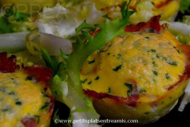 nids d'omelette au lard à la une