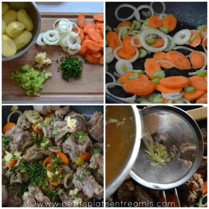 préparation irish stew