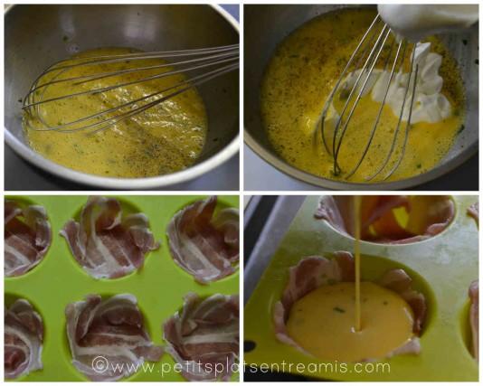préparation omelette pour nids