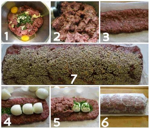 préparation pain de boeuf haché
