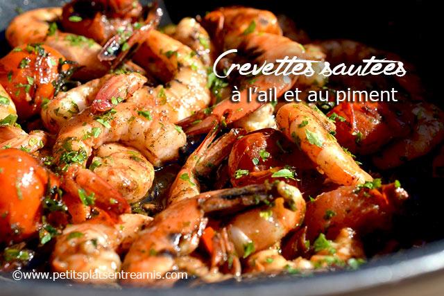 Crevettes sautées à l'ail et au piment