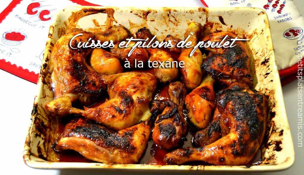 Cuisses et pilons de poulet à la texane