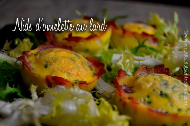 recette-nids-d'omelette-au-lard
