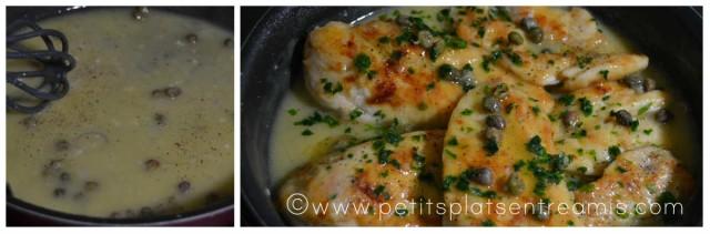 sauce liée pour piccata de poulet